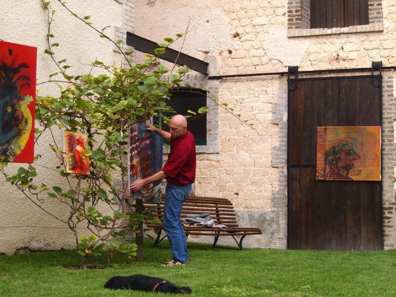 Installation dans le jardin d'Hélène